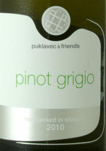 2010er Puklavec Friends Pinot Grigio etiket